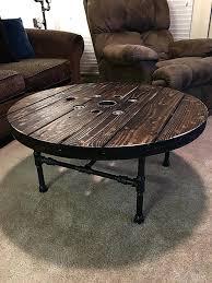 wood coffee table with black metal legs best 25 pipe furniture