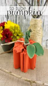 paper tube pumpkin craft
