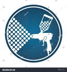 silhouette gun spray paint color vector stock vector 349193090
