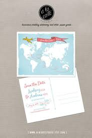 Etsy World Map by World Map International Couple Wedding Save The Date Card