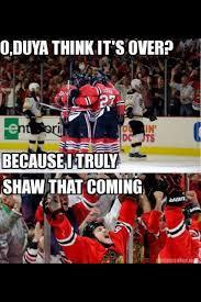 Blackhawk Memes - puns intended johnny oduya andrew shaw hockey memes andrew