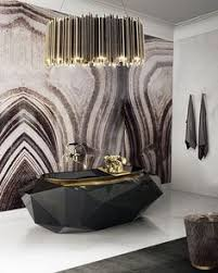 30 simply amazing interiors at nyc residences stone slab wall