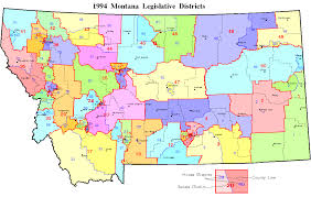 Montana Land Ownership Maps by 19950429 585 1994 Mtlegisdist Gif