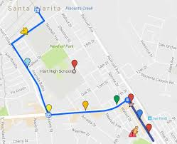 santa clarita map scvnews com map of santa clarita 4th of july parade route