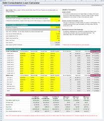 Loan Spreadsheet Free Credit Card Debt Consolidation Loan Calculator
