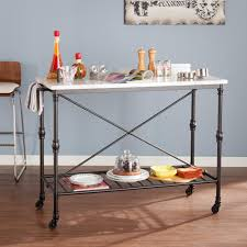 altra furniture wildwood rustic gray serving cart with slatted