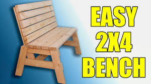 Plans For Building A Wood Bench by 2x4 Sitting Bench 104 Youtube