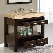 amazon com silkroad exclusive dark walnut stone top single sink