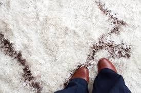 White Rug White Fluffy Rug Ash Grey Thick Polysilk Floor Rug Shaggy