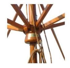 Wood Patio Umbrellas 9 Olefin Wooden Patio Umbrella