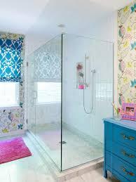 girls u0027 colorful bathroom makeover rebecca hawkins hgtv