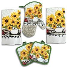 Sunflower Kitchen Rugs Washable by Amazon Com Master Cuisine Dish Drying Mat Reversible Sunflowers
