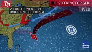 Caribbean Weather Map by Tropical Storm Gert Path Us Coast Fears As Atlantic Storm