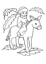 picture of jesus on a donkey palm sunday coloring page color luna