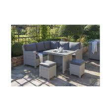 Weatherproof Patio Furniture Sets - kettler palma mini corner set whitewash garden furniture