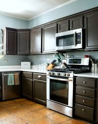 Painted Wooden Kitchen Cabinets How To Paint Builder Grade Cabinets