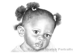 photo collection little kids pencil sketch