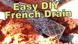easy french drain install diy youtube