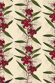 Hand Printed Wallpaper by Timorous Beasties Wallcoverings Oriental Orchid Hand Printed