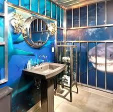 Ocean Blue Bathroom Accessories Cool Capricious Sea Bathroom