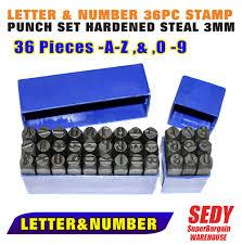 metal stamp set metal stamping kit in block font economy 14 inch