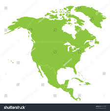 map north america north american continent stock vector 29119399