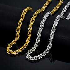 big gold necklace men images Male stainless steel chain necklace gold necklace for men jewelry jpg