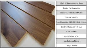 multi layered walnut engineered hardwood flooring