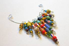 african christmas bead wire statement necklace tutorial emerging