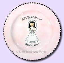 bridal shower plate to sign miss arty painted pottery signature plates
