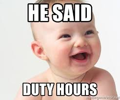 Laughing Baby Meme - he said duty hours laughing baby 2 meme generator
