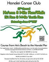 37th annual haena to hanalei run june 3rd 2017 kauai hi