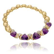 purple gold necklace images Amethyst diamond and 18kt yellow gold royal purple fantasy png