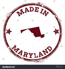 Maryland Usa Map by Maryland Vector Seal Vintage Usa State Stock Vector 404465905