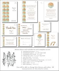 blank wedding invitation kits wedding invitation kit 2 printable seashell templates