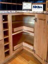 Furniture For Kitchen Cabinets by Corner Kitchen Cabinet Super Susan Storage Solution One Day