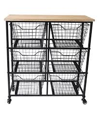 six drawer storage cabinet this six drawer metal storage cabinet by cheung s rattan imports is