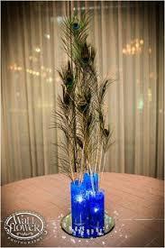 Peacock Centerpieces Peacock Centerpieces Peacock Centerpiece At Our Reception Photo