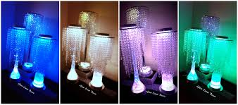 crystal chandelier led eiffel tower vase and chrome pole table decoration centrepieces for hire in adelaide