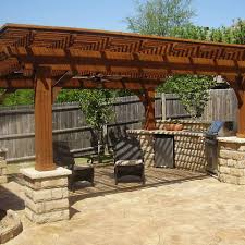 Covered Outdoor Kitchen Plans by Texas State Fence And Patio Fence And Outdoor Living Projects In