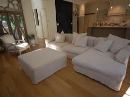 White Slipcover Sofa by White Slipcovered Sofa With Chaise Tehranmix Decoration