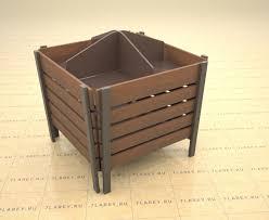 wooden bin wooden dump bin 3d model cgtrader