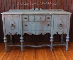 Shabby Chic Blue Paint by Furniture Makeover Shabby Chic Blue Gray Vintage Buffet Tv Console