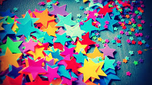 vintage colorful paper star wide screen hd wallpaper