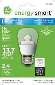 Ceiling Fan Light Bulbs Led by Ge Lighting 65538 Energy Smart Led 2 4 Watt 15 Watt Replacement