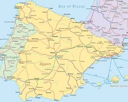 Portugal Spain Map by Spain Road Map Spain U2022 Mappery