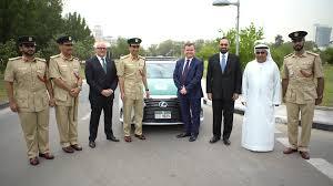 lexus uae promotions al futtaim motors and dubai police one step closer to uae vision