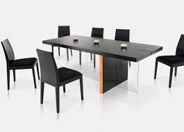 modrest vision modern black oak floating dining table