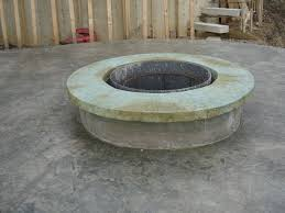Concrete Firepit Concrete Pit With Vertical Carved Stonework Hometalk