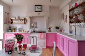 pink kitchen ideas glossy pink and white kitchen cabinets home furniture